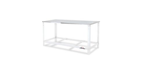 Mesa tampo inox, FC2. Confeccionada em tampo de inox, esta mesa é ideal para ser utilizada em padarias, confeitarias, restaurantes, etc.