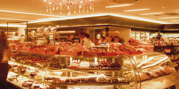 Display de produtos na padaria
